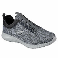 Skechers Men's Elite Flex Hartnell Low Top Sneaker Shoes Gray Footwear Skateb...