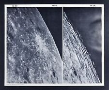 1960 Lunar Moon Photo Map Byrgius F6-e Plate S-33 Wilson & McDonald Observatory