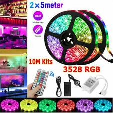 10M 32FT 3528 SMD RGB 600LEDs LED Light Strip+44Key Remote Control+12V US Power