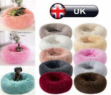 Pet Bed Dog large Luxury Shag Warm Fluffy Puppy Kitten Fur Donut Cushion Mat UK