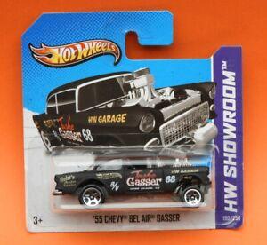 Hot Wheels Mainline 2013 : '55 Chevy Bel Air Gasser in matt black - HW Showroom