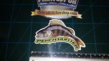 Perch Hunter Fishing Sticker Full Colour Bait Lure Angling Crafty Crew Coarse