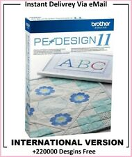 PE Design 11 - Embroidery Sewing Software + 220000 Designs Free ⭐FULL VERSION ⭐
