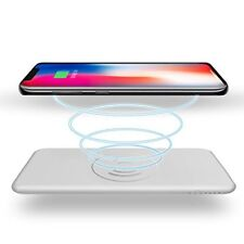 Wireless Charger Power Bank 10000mAh QI Battery Charger Pad Portable Power Bank