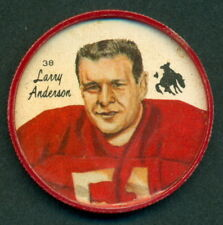 1964 CFL NALLEY'S POTATO CHIP FOOTBALL COIN 16 Larry Anderson Calgary Stampeders