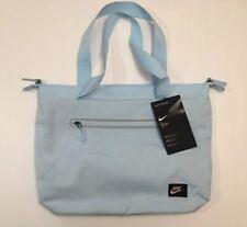 6fcf31ae238d0 Nike Tech Tote Bag Shoulder Gym Baby Blue Handle Bag Womens NEW! BA5566 494