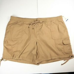 """Terra and Sky Size 5X Pull On Cargo Shorts Cotton Stretch NWT 8.5"""" Inseam"""