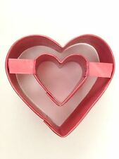 "Red Cookie Cutter 3 Inch ""HEART"" Aluminum Metal"