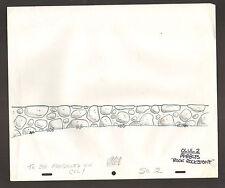 """Flintstones Animation Art - Background """"Rock Rockstone"""" Scene 2 Olul #2"""