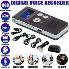 More details for new voice recorder mini spy 8gb digital sound audio  dictaphone mp3 player uk