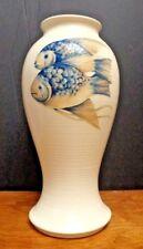 "Vintage Moorcroft Rare Tall Painted Fish Baluster Vase 15"" High c. 1930"