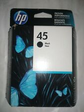 GENUINE HP 45 INK BLACK 51645A NEW  FACTORY SEALED BOX EXP 12/2016