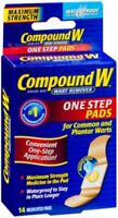 Compound W Maximum Strength, One Step Pads 14 ea (Pack of 4)