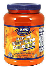 NOW Foods Grass-Fed Whey Protein Concentrate, Natural Unflavored, 1.2 Pound