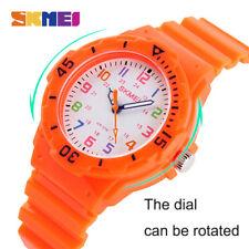 Children Wristwatch 50m Waterproof Simple Style Jelly Color Super Endurance C45