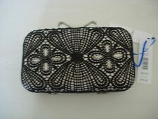 PRECIS PETITE LARA LACE CLUTCH BAG-BLACK NEW