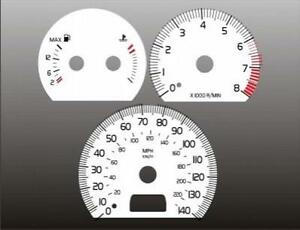 1998-2000 Volvo S70 Dash Cluster White Face Gauges 98-00