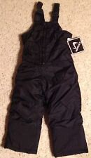 CHILDS WINTER SNOW SUIT NEW SIZE XS 4/5 BIB PANTS UNISEX BLACK