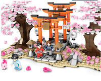 647PCS City Street Japan Sakura Park Building Blocks Bricks Model Toys Figures