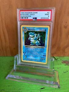 1999 Pokemon Card Blastoise Base Set holo Shadowless PSA 9 MINT Rare #2