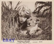 Marion Michael w/lion cub VINTAGE Photo Liane Jungle Goddess