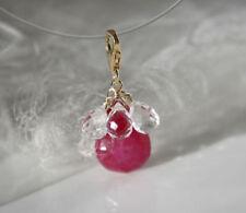 Gefärbte-Halsketten & Anhänger mit echten Glück Edelsteinen für Damen