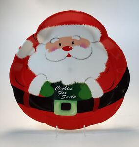 "Adorable Santa Claus Serving Tray Melamine Cookies For Santa 14"""