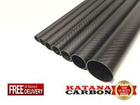 Matt 1 x 3k Carbon Fiber Tube OD 14mm x ID 12mm x Length 800mm (Roll Wrapped)