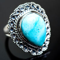 Large Larimar 925 Sterling Silver Ring Size 8.25 Ana Co Jewelry R997017F