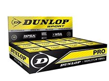 Dunlop Pro Double Yellow Dot Squash Balls - 12 Ball in a box - Authorized Dealer