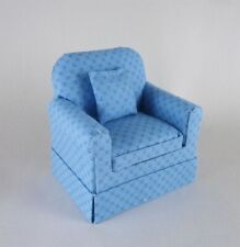 Dollhouse Miniature Artisan Pretty Blue Chair