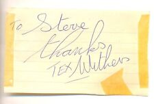 Tex Withers signed autograph book page 1970s British country music singer