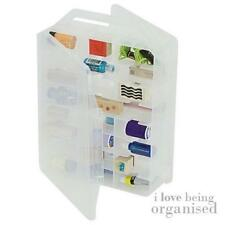 Sewing Bobbin Thread Box 46 Clear Compartments Double Sided Multi-Craft Carrier