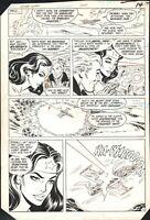 1985 WONDER WOMAN #324 PAGE 11 COMIC ORIGINAL ART BY DON HECK DC COMICS