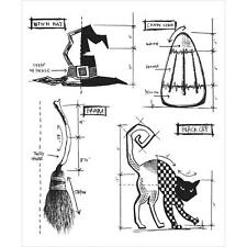 """TH - Cling Stamps Set 7""""X8.5"""" - Halloween Blueprint #3"""