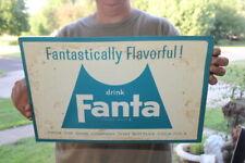 """Vintage c.1960 Fanta Orange Coca Cola Soda Pop Gas Oil 15"""" Metal Sign"""