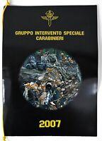 Calendario GIS Anno 2007 Carabinieri Gruppo Intervento Speciale Nuovo