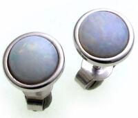Damen Ohrringe echt Opal 8 mm echt Gold 333 Stecker Weißgold Ohrstecker Qualität