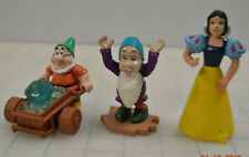 Snow White And The Seven Dwarves Mcdonalds Happy Meal Toy Lot of 3 Sleepy Miner
