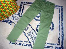 jeckerson johnny - pantaloni cotone verde - slim fit - come nuovi