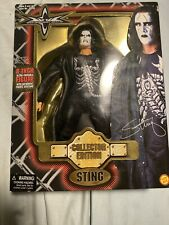 """WCW Toy Biz Sting Deluxe Collector Edition 8"""" Wrestling Figure Great Condition"""