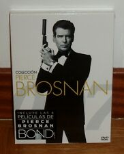 JAMES BOND 007-COLECCION PIERCE BROSNAN-4 DVD-NUEVO-PRECINTADO-ACCION-NEW-SEALED