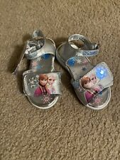 Size 7 Girls Frozen Light Up Sandals