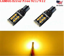JDM ASTAR 2x 800LM Amber 921 912 Error Free PX SMD Backup Reverse Light LED Bulb