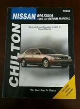 Chilton Repair Manual Nissan Maxima  1993 - 1994  Chilton 52452