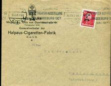 429188) DR ill. Reklameumschlag Cigaretten m. Bandst. Magdeburg Theater 1927