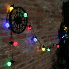 5m Indoor Outdoor Garden Wedding Christmas Festoon Globe Fairy String LED Lights Multi-colour UK Plug