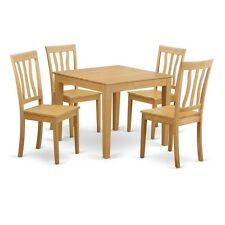 Oak square dining furniture sets ebay east west furniture 5 piece kitchen table square table and 4 kitchen chairs new watchthetrailerfo