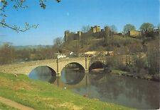 B102287 dinham bridge and ludlow castle from whitcliffe   uk