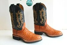 New Justin Men's Boots Paluxy Cognac Full Quill 5014, Size 10 B Made in USA.
